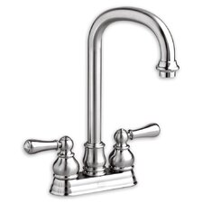Hampton Two Handle Centerset Bar Faucet with Optional Lever Handles