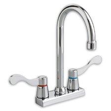 Amarilis Double Handle Centerset Bar Faucet with Less Handle and Gooseneck Swing Spout