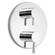 Serin Dual Shower Faucet Trim Kit with Two Handles