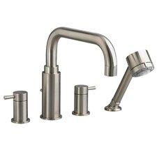 Serin Double Handle Deck Mount Roman Tub Faucet