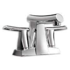 Green Tea Centerset Bathroom Sink Faucet with Double Lever Handles