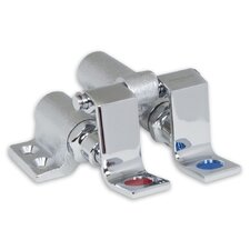 Floor Mounted Self Closing Double Pedal Valves in Chrome