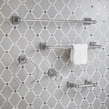 """18"""" Concealed Mounted Square Traditional Towel Bar"""