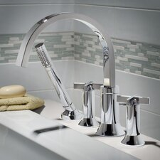 Berwick Double Handle Deck Mount Tub Only Faucet Cross Handle