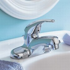 Colony Soft Lever Handle Centerset Bathroom Faucet with Grid Drain