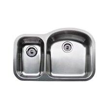 """Wave 31.5"""" x 20.88"""" Plus Reverse Bowl Undermount Kitchen Sink"""