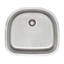 "Stellar 23.38"" x 20.87"" D Shaped Single Bowl Kitchen Sink"