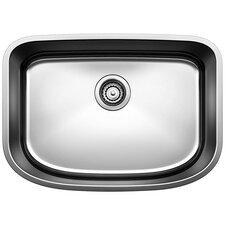 """One 25"""" x 18"""" Single Bowl Undermount Kitchen Sink"""