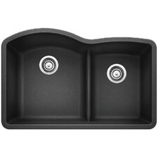 "Diamond 32"" x 20.88"" Low Divide Undermount Kitchen Sink"