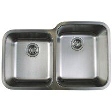 """Stellar 32.3"""" x 20.5"""" Reverse Bowl Kitchen Sink"""