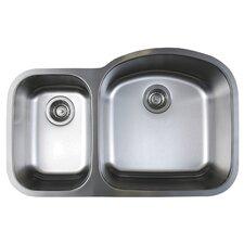 """Stellar 31.75"""" x 20.5"""" Reverse Bowl Kitchen Sink"""