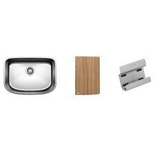 "One 25"" x 18"" Preparation Single Kit Kitchen Sink"