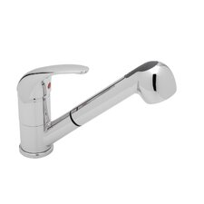 Torino Jr. Single Handle Deck Mounted Kitchen Faucet with Pull Out Spray
