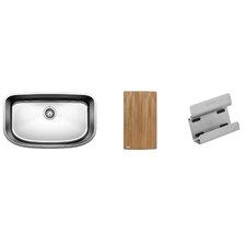 "One 30"" x 18"" Super Preparation Single Kit Kitchen Sink"