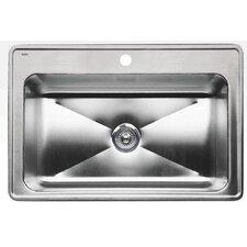 """Magnum 32"""" x 22"""" Single Deep Bowl Drop-in Kitchen Sink"""