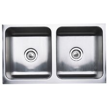 """Magnum 32"""" x 18.5"""" Equal Double Bowl Kitchen Sink"""