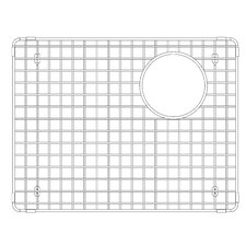 "Precis 13.88"" x 18"" Stainless Steel Sink Grid"