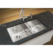 """Quatrus 33"""" x 18"""" Undermount Kitchen Sink"""
