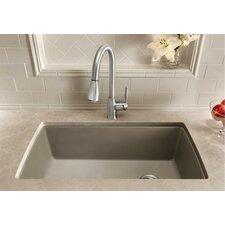 """Diamond 33.5"""" x 18.5"""" Super Single Bowl Kitchen Sink"""