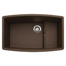 "Performa 32"" x 19.5"" Single-Basin Granite Undermount Residential Kitchen Sink"