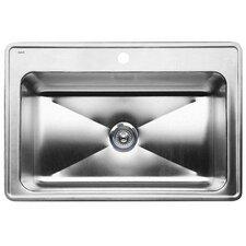 """Magnum 33"""" x 22"""" Single Bowl Drop-In Kitchen Sink"""