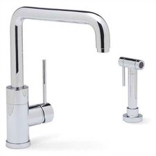 Purus Single Handle Deck Mounted Kitchen Faucet with Side Spray