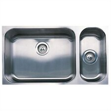 """Spex 32"""" x 18"""" Plus Bowl Undermount Kitchen Sink"""