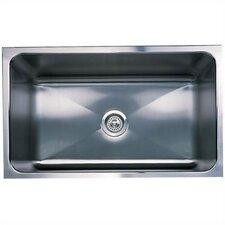 """Magnum 31.25"""" x 18"""" Large Single Bowl Undermount Kitchen Sink"""