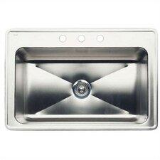 "Magnum 33"" x 22"" Large Single Bowl Drop-In Kitchen Sink"