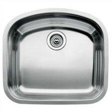 """Wave 22.44"""" x 20.44"""" Single Bowl Undermount Kitchen Sink"""