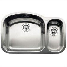 """Wave 32.09""""  x 20.88"""" Bowl Undermount Kitchen Sink"""