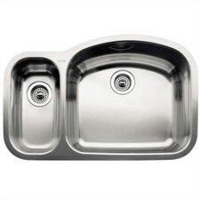 """Wave 32.09"""" x 20.88"""" Reverse Bowl Undermount Kitchen Sink"""