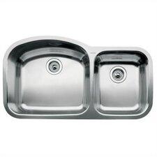 """Wave 37.09"""" x 20.88"""" Bowl Undermount Kitchen Sink"""