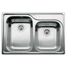 "Supreme 33"" x 22"" Bowl Drop-In Kitchen Sink"