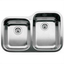 """Supreme 31.31"""" x 20.88"""" Reverse Bowl Undermount Kitchen Sink"""