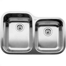 """Supreme 31.31"""" x 20.88"""" Bowl Undermount Kitchen Sink"""