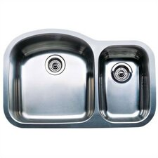"""Wave 31.5"""" x 20.88"""" Plus Bowl Undermount Kitchen Sink"""