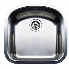 "Wave 19.69"" x 20.5"" Plus Single Bowl Undermount Kitchen Sink"