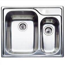 "Supreme 26.5"" x 22"" Bowl Double Single Drop-In Kitchen Sink"
