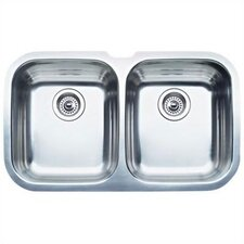 "Niagara 30.63"" x 18.5"" Equal Double Bowl Undermount Kitchen Sink"