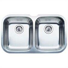 "Niagara 30.63"" x 18.5"" Equal Double Bowl Undermount Kitchen Sink"