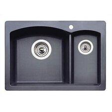 """Diamond 20.63"""" x 15"""" Drop-In Prep Kitchen Sink"""