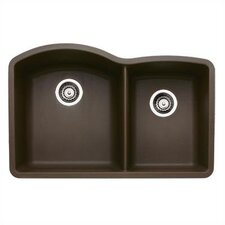 "Diamond 32"" x 20.84"" Double Bowl Kitchen Sink in Cafe Brown"