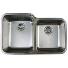 """Stellar 32.33"""" x 20.5"""" Double Bowl Undermount Kitchen Sink"""