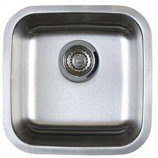 "Stellar 15"" x 15"" Single Bowl Undermount Bar Sink"