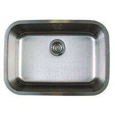 """Stellar 25"""" x 18"""" Medium Single Bowl Undermount Kitchen Sink"""