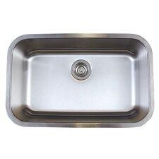 """Stellar 28"""" x 18"""" Super Single Bowl Undermount Kitchen Sink"""