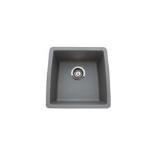 "Performa 17.5"" x 17"" Silgranit II Single Bowl Undermount Bar Sink"