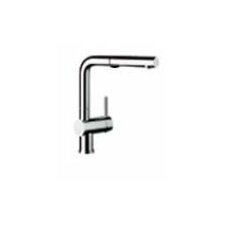 Linus Single Handle Deck Mounted Kitchen Faucet with Pull Out and Dual Spray