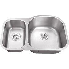 "30"" x 19"" Double Bowl 18 Gauge Kitchen Sink"